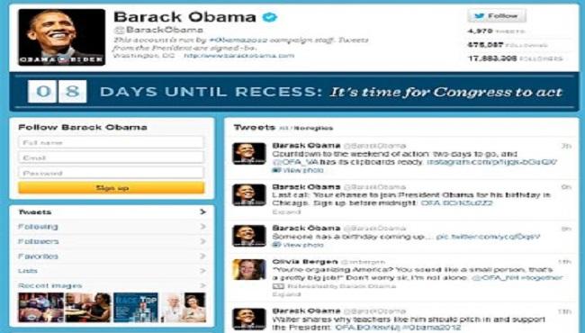 Barack Obama compte Twitter
