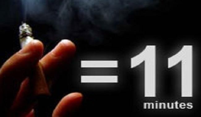 Fumer réduit l'espérance de vie de 11 minutes par cigarette
