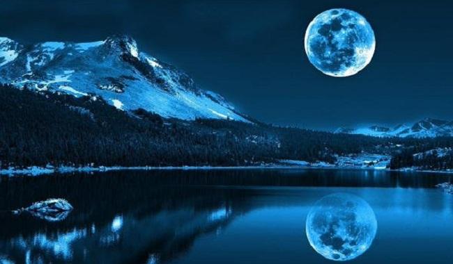 La Lune bleu