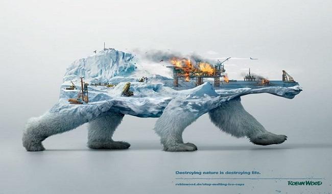 Campagne détruire la nature c'est détruire la vie