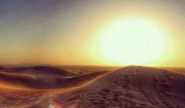 Energie du soleil dans le désert