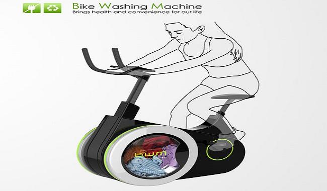 Le vélo à laver le linge