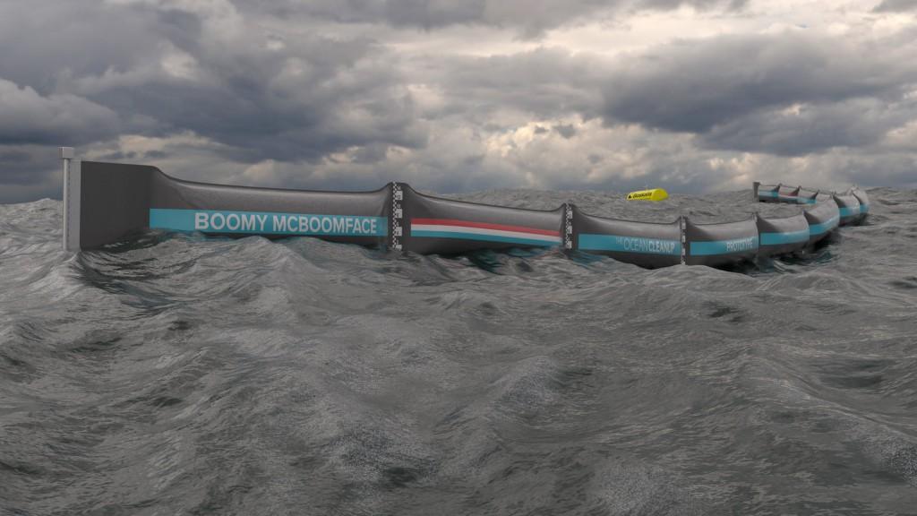 Barrière pour nettoyer les déchets des océans