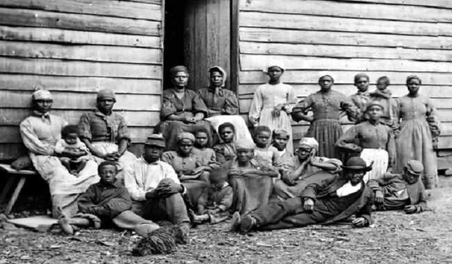 Esclaves construisent la Maison Blanche