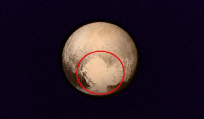 Forme de coeur sur Pluton