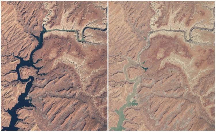 Lac Powell avant et aprés