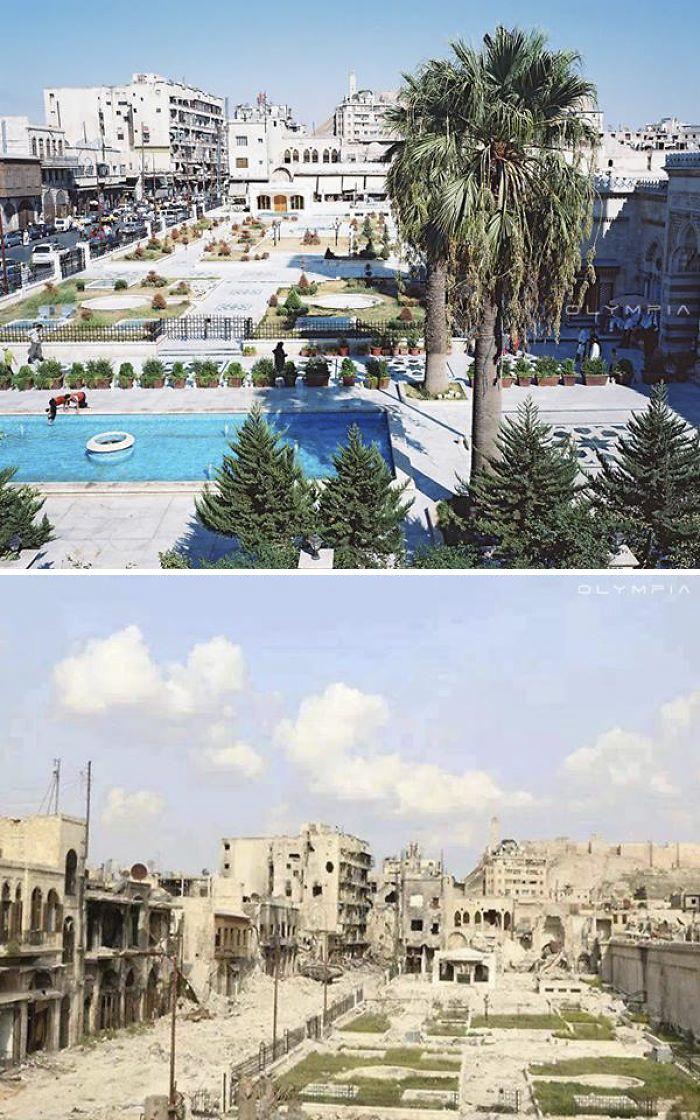 Photos AFP avant et aprés la guerre