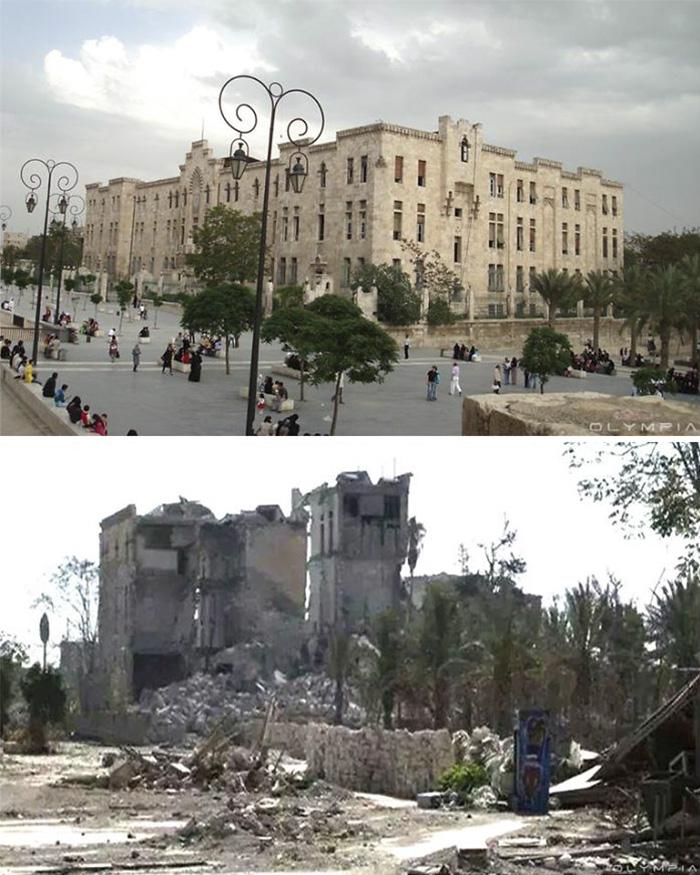 Photos Syrie geurre avant et aprés