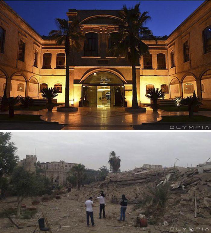 Photos guerre Syrie aprés la guerre et avant la guerre (2)