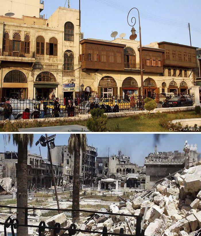 Photos monument avant et aprés la guerre (2)