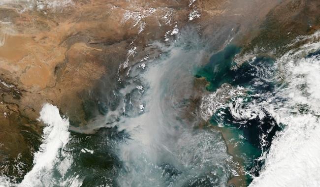 Pollution en Chine depuis l'espace