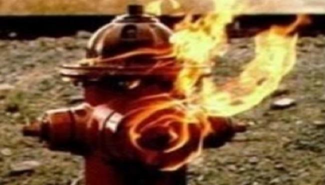 Borne incendie en feu