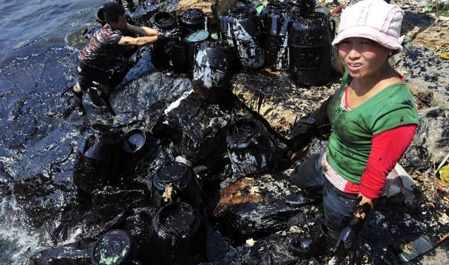 Déversement de produits chimique Chine