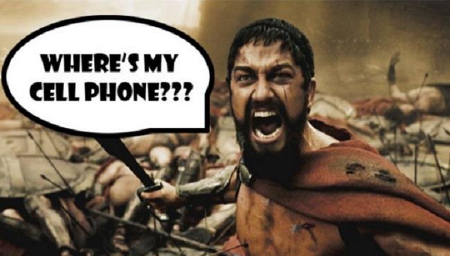 Nomophobie Téléphone portable