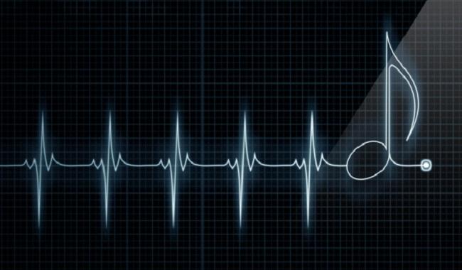 Battement de coeur sur la musique