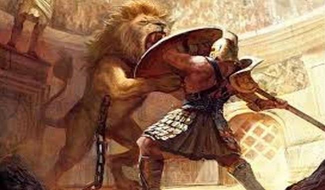 Combat dans la Rome Antique