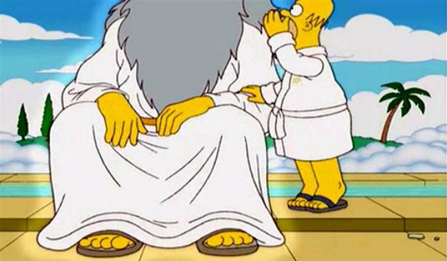 Dieu a 5 doights dans Les Simpsons