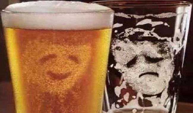 La phobie du verre de bière vide