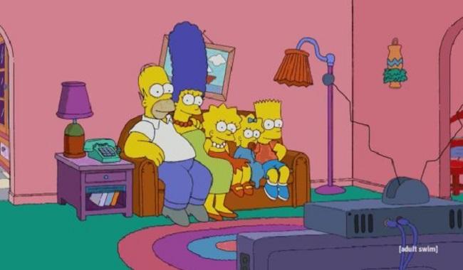 Le canapé des Simpsons