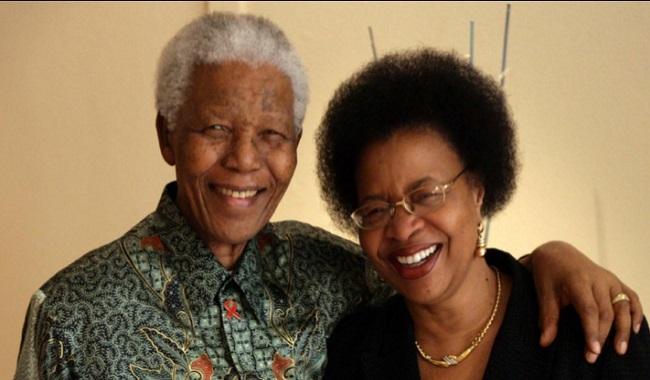 Nelson Mandela et sa femme