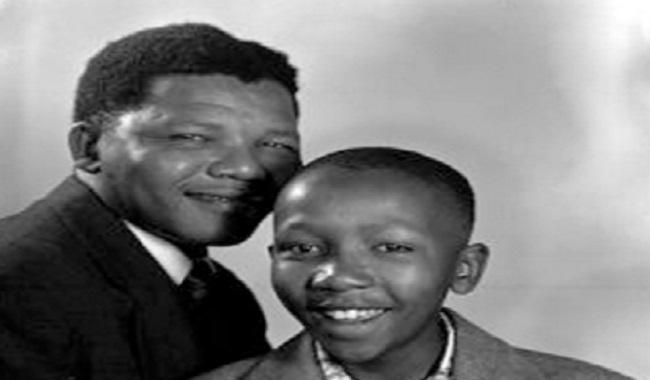 Nelson Mandela et son fils