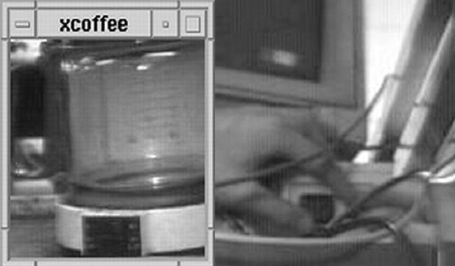 Première webcam qui film du café