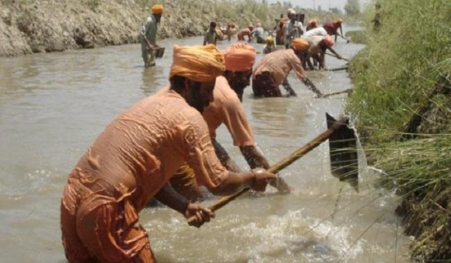 Restauration d'une rivière en Inde