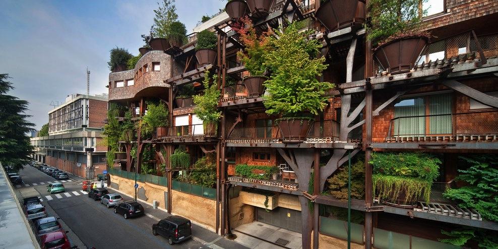 25 Verde immeuble dans l'arbre