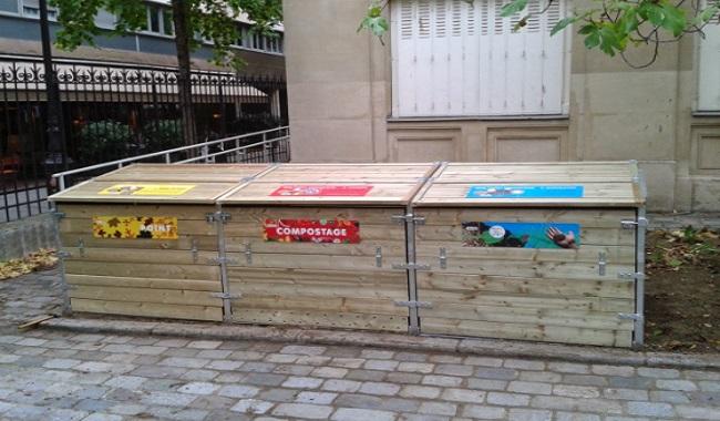 Bac à compost à Paris