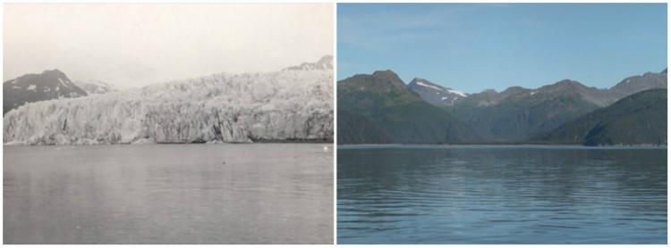 Le glacier McCarty en Alaska