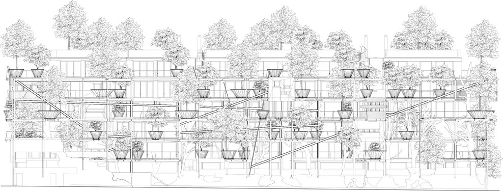Plan architecture Verde 25 en Italie